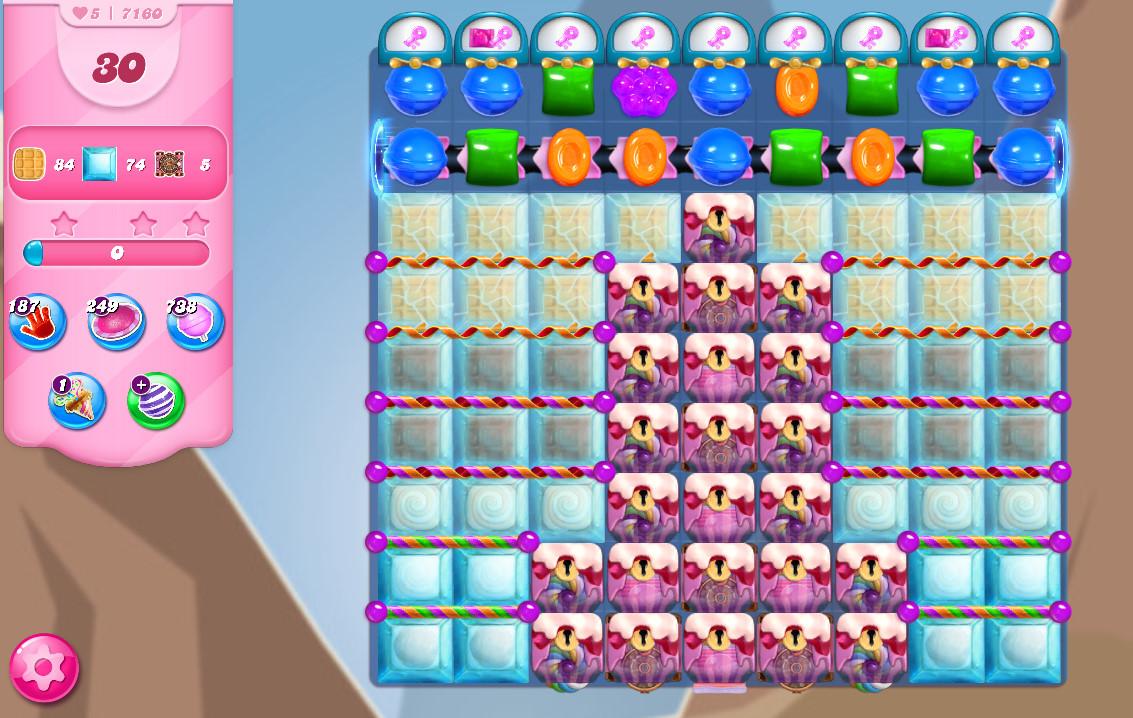 Candy Crush Saga level 7160
