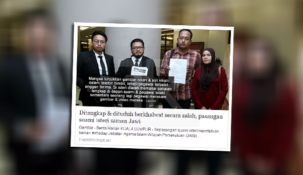 JAIS dedah punca sebenar pasangan suami isteri ditangkap khalwat