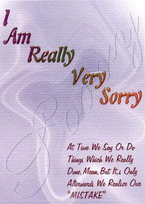 Beautiful Sorry Cards For Friends  Apology Card Messages