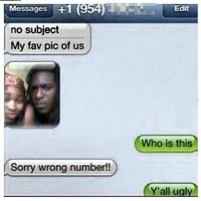 Hilarious SMS Text Message Joke Image