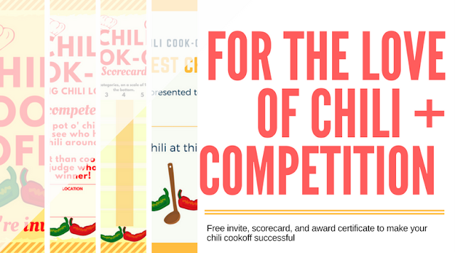 Chili Cook-off Insider: Another free invite, scorecard, and award certificate