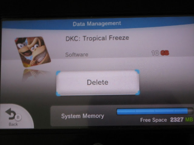 Donkey Kong Country Tropical Freeze data management delete from system memory