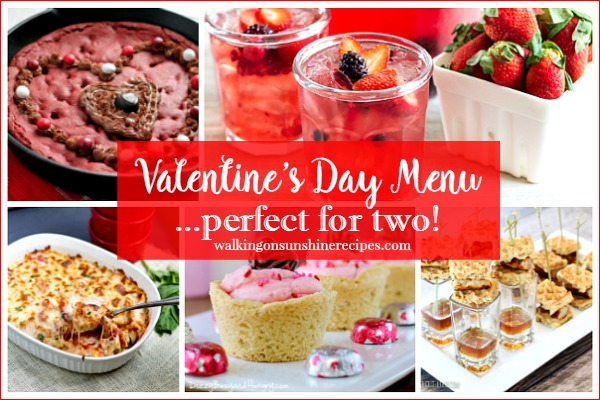 Party:  Valentine's Day Menu Perfect for Two from Walking on Sunshine
