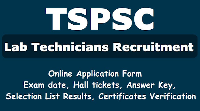 Apply Online, Exam date, Hall tickets, Answer Key, Selection List Results, Certificates Verification