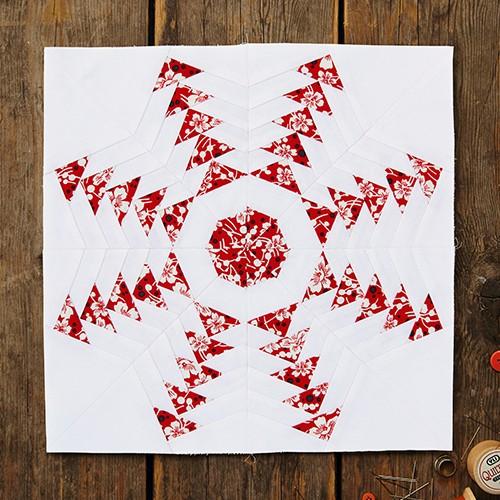 Snowflake Quilt Block - Free Pattern