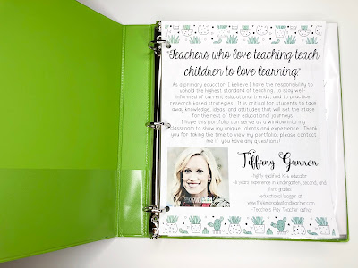 Cactus Teacher Portfolio: Stand Out in Your Teacher