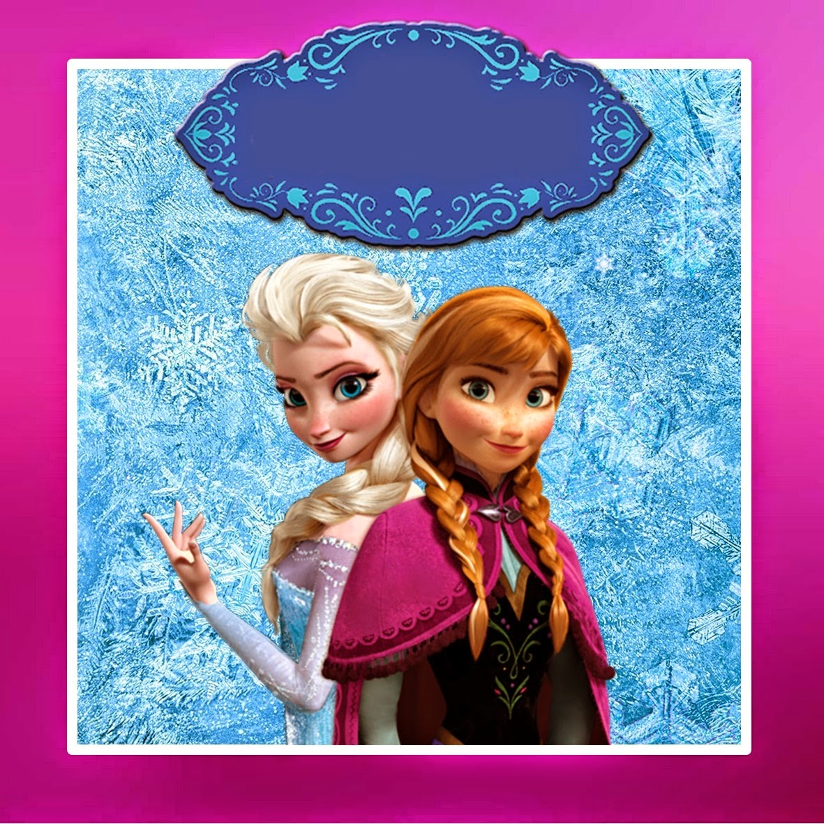 Frozen: Free Printable Kit with Fucsia Border. | Oh My