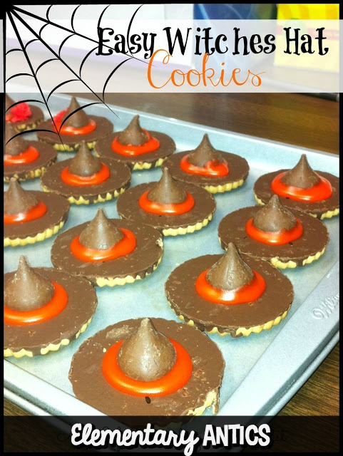These easy Halloween witches hat cookies are a great treat or procedural writing activity for your students.