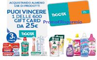 Logo Colgate : Vinci 600 card Tigotà d 25€