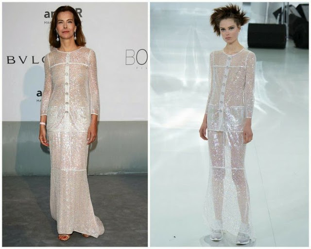 Carole Boquet in Chanel Couture – amfAR Cinema Against Aids Gala