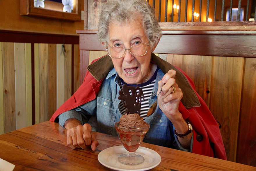 90-Year-Old With Cancer Chooses Epic Road Trip With Family Instead Of Treatment - And, of course, she needs to keep her energy levels up by eating well!
