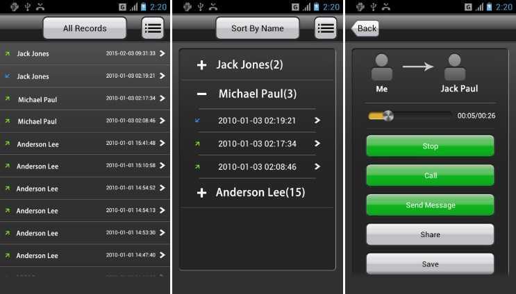 All Call Recorder'i Android ve İOS'ta görüşme kaydetmek için kullanabilirsiniz.