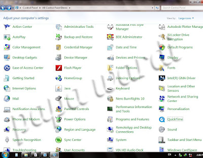 Control Panel, Windows 7