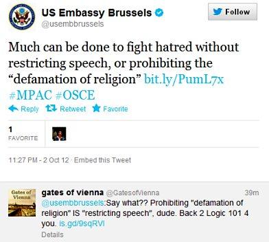 OSCE Warsaw: US embassy tweet