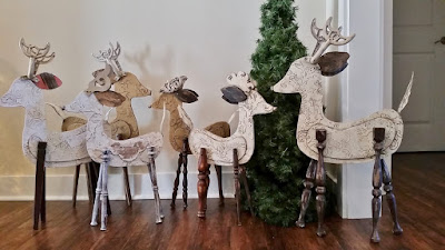 large reindeer recycled repurposed Christmas decor