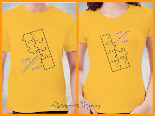 Puzzle Pieces Kaos Couple Tshirt