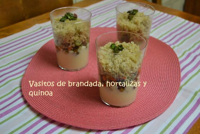 VASITOS DE BRANDADA, HORTALIZAS Y QUINOA