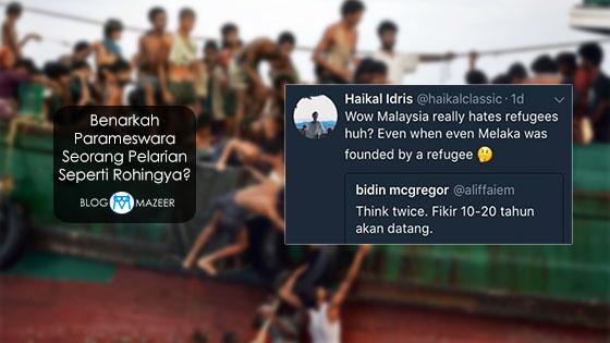 Benarkah Parameswara Seorang Pelarian Seperti Rohingya?