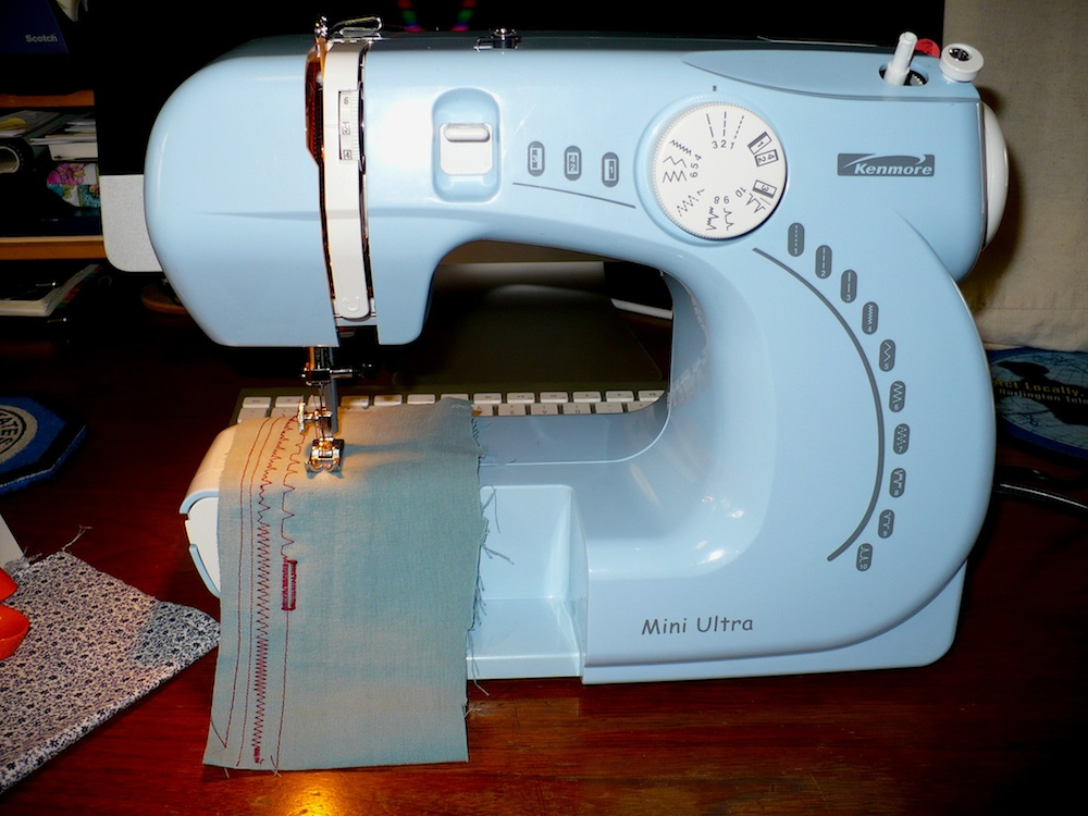 Eyelets In The Seams A Break For Some FunKenmore Mini Ultra New Blue Kenmore Sewing Machine