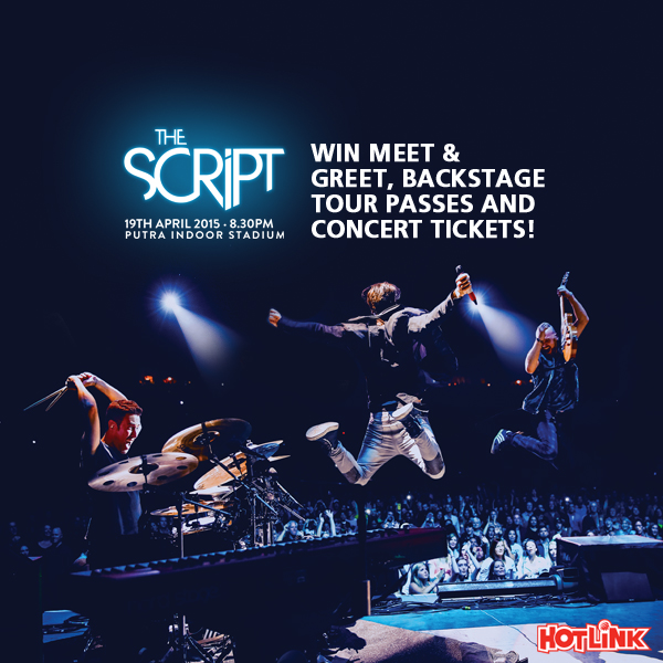 WIN THE SCRIPT Concert Tickets, M&G and Backstage Tour Passes!!