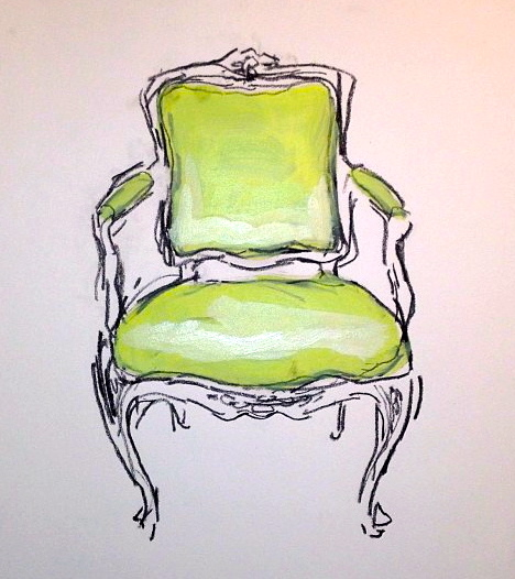 What I Saw Today: WHAT I SAW TODAY: A GREEN CHAIR, A PINK