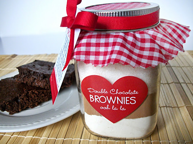 brownie mix in a jar