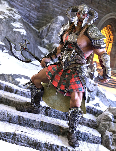 Dragonsbane Barbarian Clothes HD for Genesis 3 Male