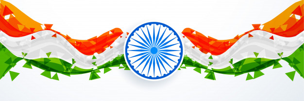Abstract Indian Flag Vector Design Free Download