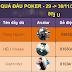 Kết quả đấu trường poker đổi thưởng ngày (29-30 tháng 11)