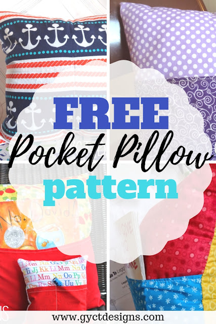 Use this free simple pocket pillow pattern to sew your own single or double pocket pillow.