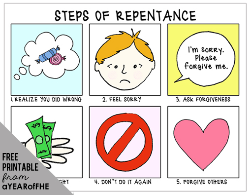lds repentance coloring page - a year of fhe year 01 lesson 19 repentance