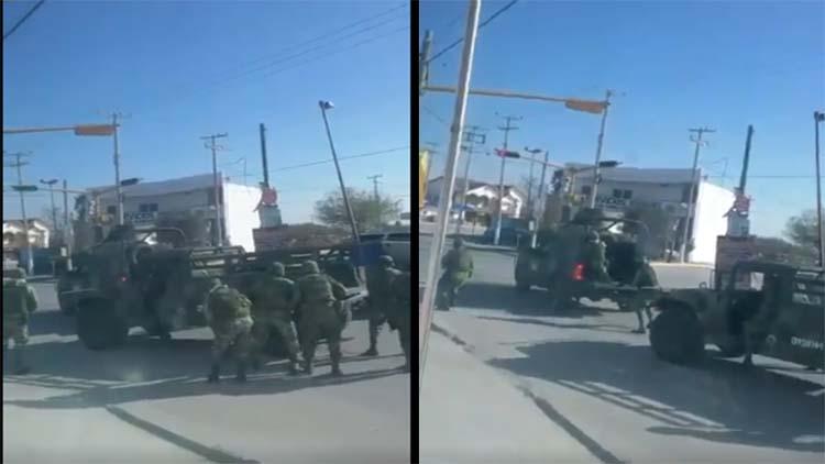 VIDEO: Se enfrentan sicarios del Toro del Cártel del Golfo contra militares en Río Bravo, Tamaulipas