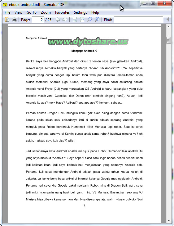 Sumatra Pdf For Android