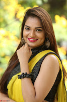 Cute Actress Ashwini in Yellow Saree Exclusive  012.JPG