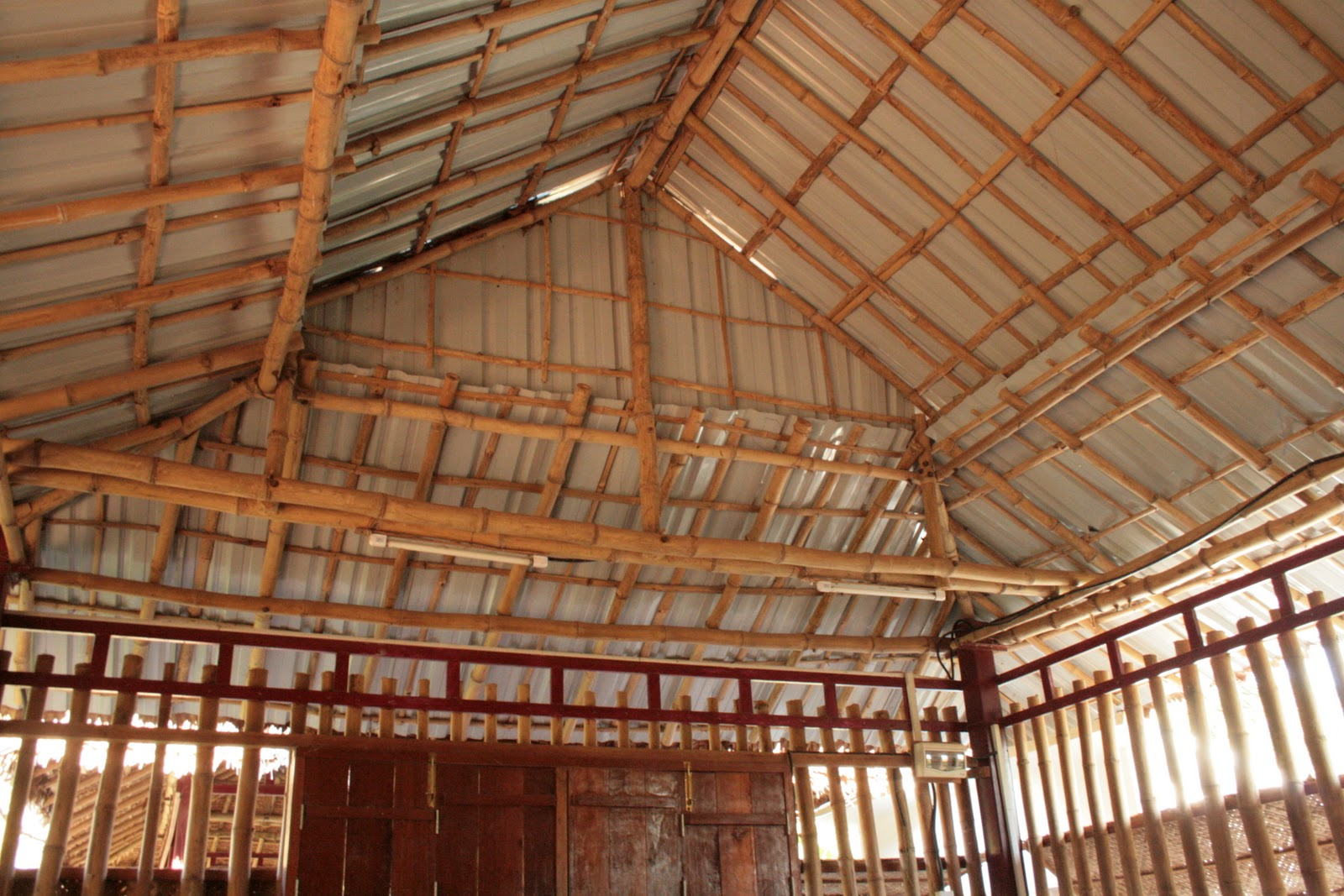 Komitu School Building Made Out Of Bamboo
