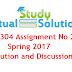 CS304 Assignment No 02 Spring 2017