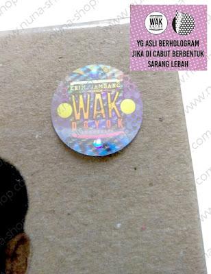 Stiker Hologram Wak Doyok Asli Original