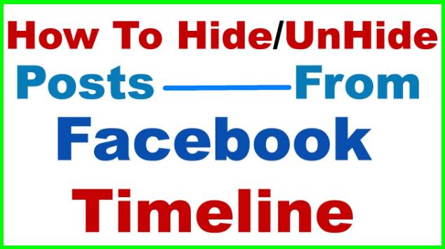 How Do You Unhide Posts On Facebook - DaftarEmail com