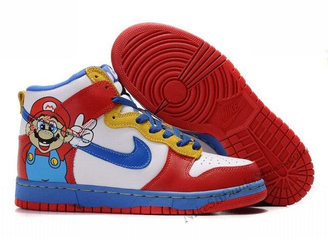 timeless design 7bc3d c8251 Cute Nike Dunk SB High Premium Super Mario Dunks