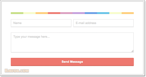 Contact form with CSS rainbow devider for Blogspot