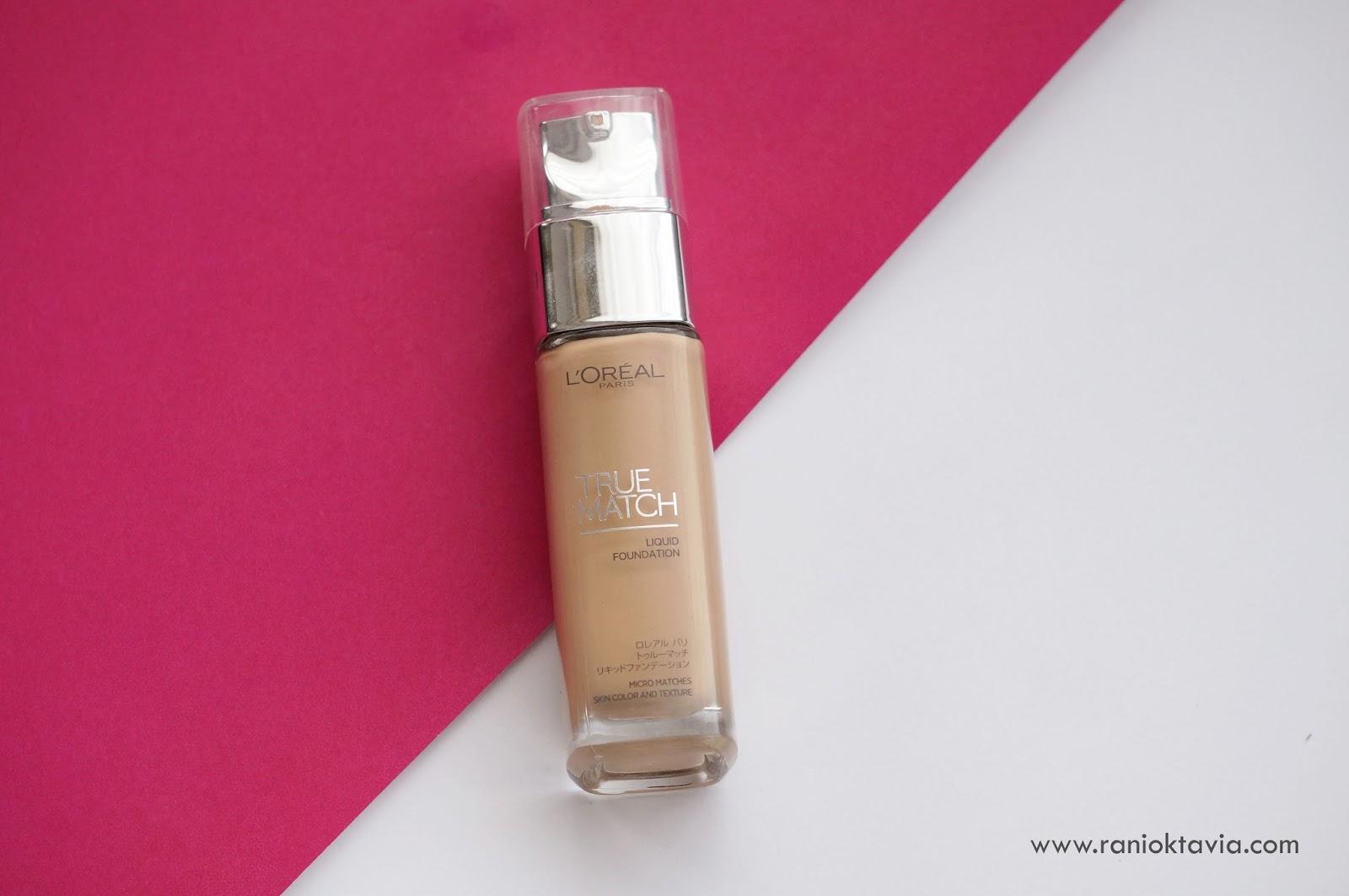 Makeup Review Loreal True Match Liquid Foundation Beauty Blog By Bedak Karena Waktu Itu Belum Banyak Ulasan Tentang Formula Terbarunya Aku Nekat Aja Beli Lagi Memang Butuh Dan Warnanya Pas Banget Sama Kulit