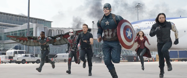 "A host of heroes charges the field in ""Captain America: Civil War"""