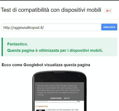 Scoprire se un sito è ottimizzato per i dispositivi mobili