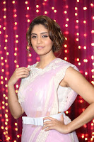 Surabhi in Designer Pink Saree and White Sleeveless Choli at Zee Telugu Apsara Awards 2017 13.JPG