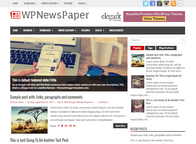 WPNewsPaper blogger template