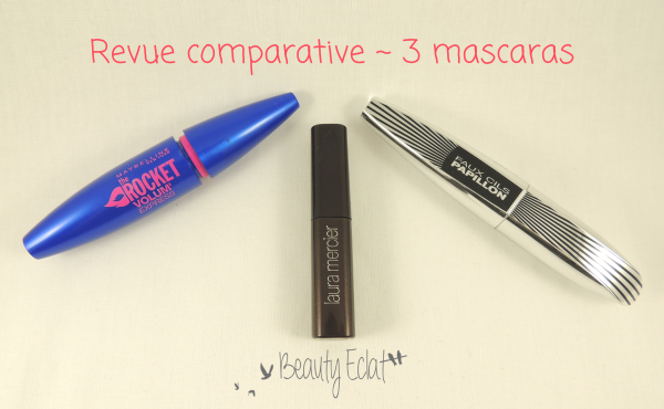 revue comparative mascara maybelline laura mercier l'oreal