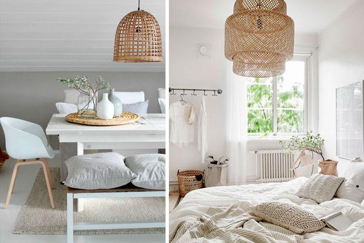 Marzua ideas para decorar con l mparas de mimbre y mamb - Decoracion bambu interiores ...
