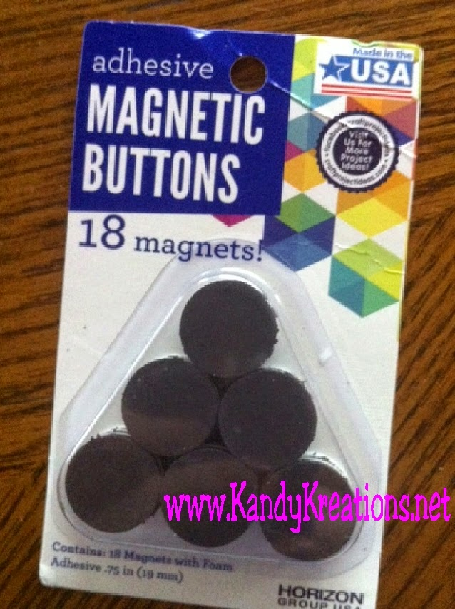 Adhesive Magnet Buttons