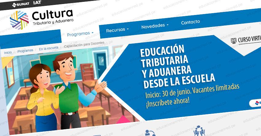 Docentes de educación primaria y secundaria podrán participar gratis del curso virtual sobre educación tributaria