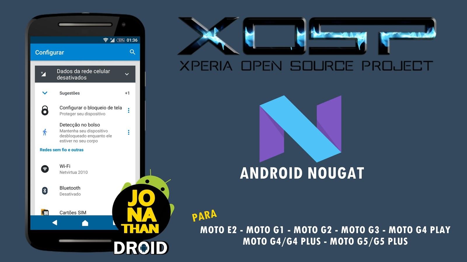 ROM - XOSP Android 7 1 x Nougat - Para Moto E2, G1, G2, G3